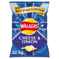 Walkers cheese & onion single crisps