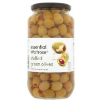 Waitrose, stuffed green olives with pimiento in brine