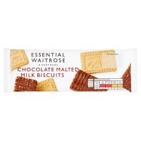 essential Waitrose milk chocolate malted milk biscuits