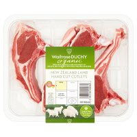 Waitrose Organic 4 hand cut New Zealand lamb rack cutlets