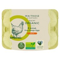 Waitrose Duchy Organic 6 medium British free range eggs
