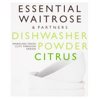 essential Waitrose lemon dishwasher powder