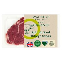 Waitrose Duchy Organic British beef ribeye steak
