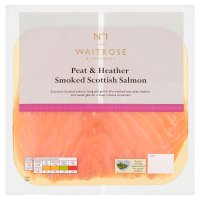 Waitrose peat & heather Scottish smoked salmon minimum, 4 slices