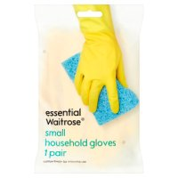 essential Waitrose household gloves small