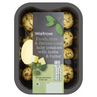 Waitrose baby potatoes with herbs & butter