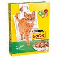 Purina go-cat adult with rabbit, turkey & vegetables
