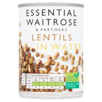 essential Waitrose canned lentils in water