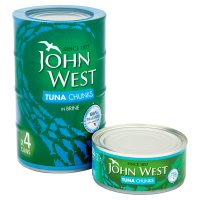 John West tuna chunks in brine, 4 pack