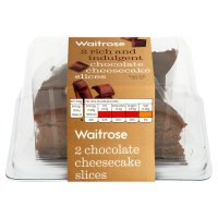 Waitrose 2 Belgian chocolate cheesecake slices