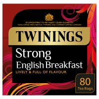 Twinings 1706 strong breakfast tea 80 tea bags