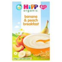 Hipp organic banana and peach breakfast - stage 1
