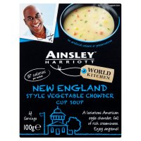 Ainsley Harriott vegetable chowder cup soup, 4 servings