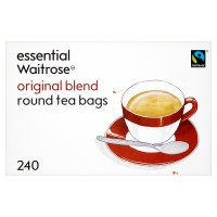 Essential Waitrose Original Blend Tea  240 Round Bags