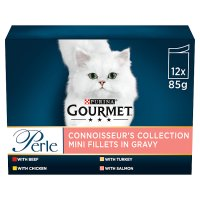 GOURMET Perle Adult Cat Mini Fillets in Gravy Connoisseurs Collection Wet Cat Food Pouch