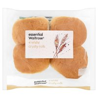 essential Waitrose white crusty rolls