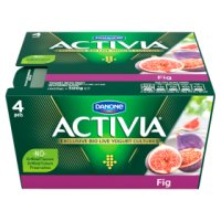 Activia fig yogurts