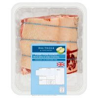 Waitrose British Outdoor Bred pork shoulder roast with apple and sage stuffing