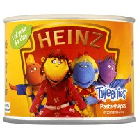 Heinz Tweenies pasta shapes