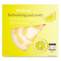 Waitrose light & creamy lemon cheesecake
