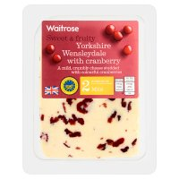 Waitrose Yorkshire mild Wensleydale cheese with cranberry, strength 2