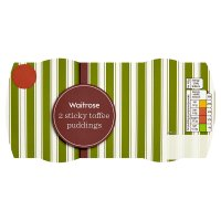 Waitrose 2 sticky toffee puddings