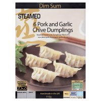 Zao dim sum pork & garlic chive dumplings