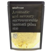 Waitrose pilau basmati microwaveable rice