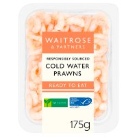 Waitrose cooked & peeled prawns