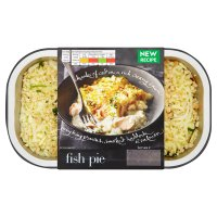 menu from Waitrose Crunchy topped fish Pie