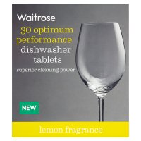 Waitrose 5 in 1 dishwasher tablets, lemon - 30 tablets