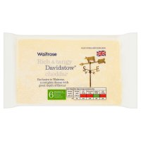 Waitrose Davidstow Cornish extra mature Cheddar cheese, strength 6