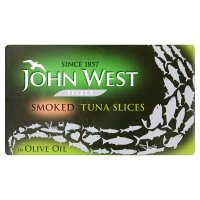 John West smoked tuna slices in olive oil