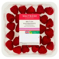 essential Waitrose British raspberries