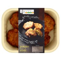 menu from Waitrose Crunchy potato rosti