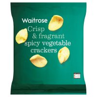 Waitrose vegetable crackers Indonesian style
