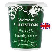 Waitrose Christmas pourable brandy cream