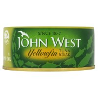 John West yellowfin tuna steak in olive oil