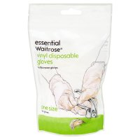 essential Waitrose vinyl gloves, pack of 20