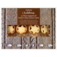 Waitrose mini star mince pies