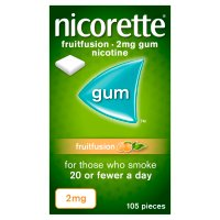 Nicorette low strength freshfruit 2mg gum