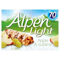 Alpen bars light 5 apple & sultana