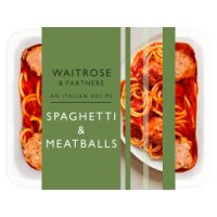 Waitrose spaghetti and meatballs