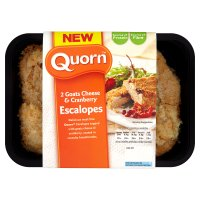 Quorn 2 goats cheese & cranberry escalopes