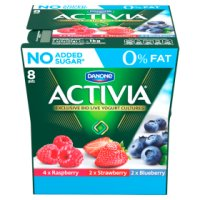 Activia fat free red fruit yogurt variety pack