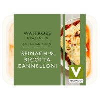 Waitrose spinach and ricotta cannelloni