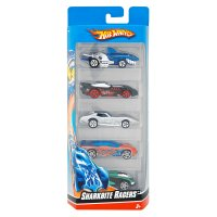 Hot wheels cars, pack of 5, assorted