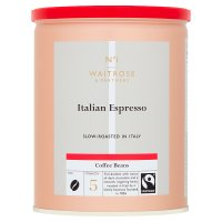 Waitrose espresso coffee roasted beans
