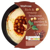 Waitrose houmous with parsley & paprika topping