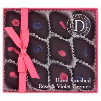 House of Dorchester hand made chocolates rose & violet cremes